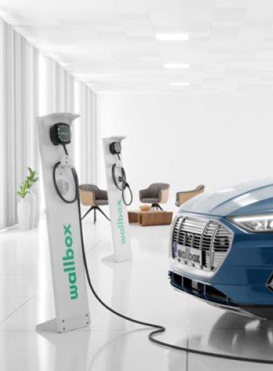 Une borne de recharge installée chez soi à Marseille par un électricien certifié.